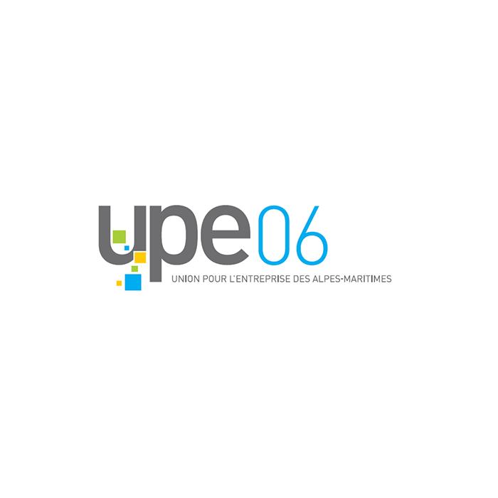 Logo de UPE 06 union pour l'entreprise dans les alpes maritimes projet concurrence société association