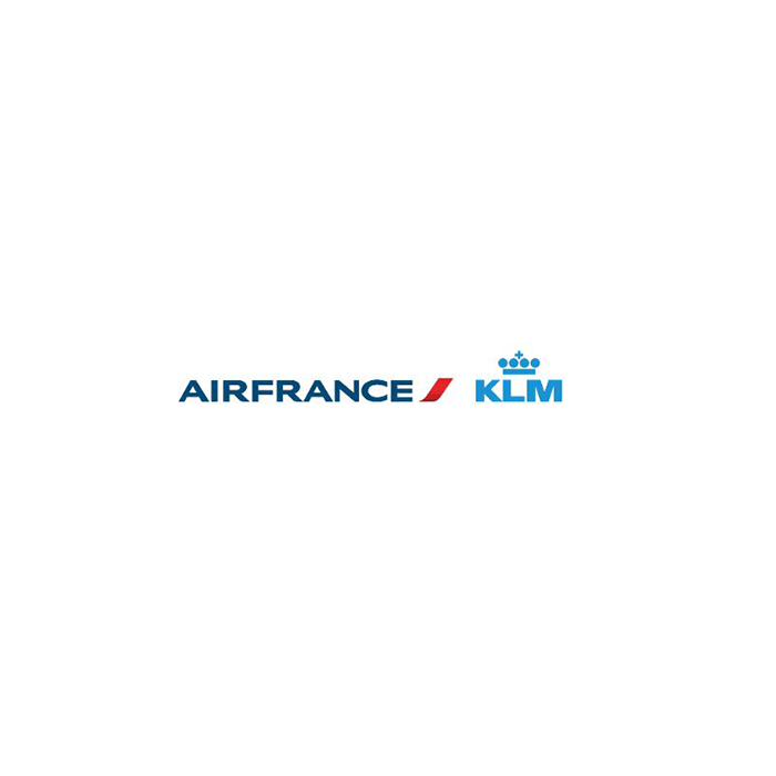 Logo de la compagnie aérienne Air France KLM club aiport premier ciel avion aviation production clientèle classe aimable barman nourriture