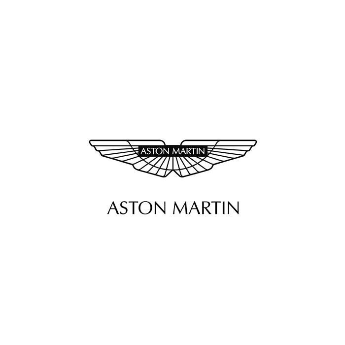 Logo de la marque de voiture de luxe Aston Martin voiture luxe vidéo reportage film f1 ferrarie formule 1 télé télévision vidéo internet tourisme