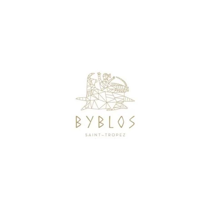Logo de l'hôtel restaurant club beach Byblos à Saint tropez dans le sud de la france au bord de mer
