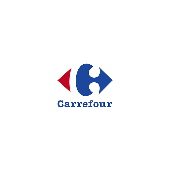 Logo du gérant de l'industrie de grande distribution Carrefour international national