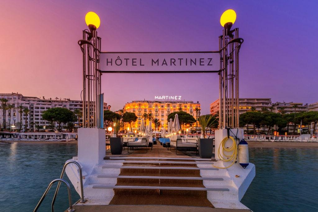 Une vidéo pour Cote Magazine et Air France à l'hotel Martinez de Cannes